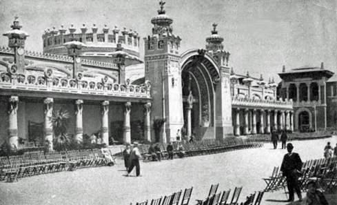 Ignacio Coyné. Exposición Hispano Francesa. Pabellón de la Alimentación, 1908.Proyecto GAZA (Gran Archivo Zaragoza Antigua)