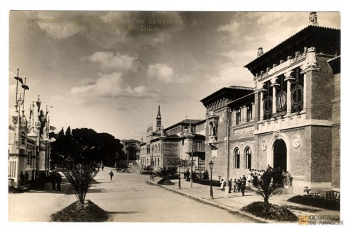 Ignacio Coyne.Exposición Hispano Francesa. Avenida del Jardín Botánico. 1908.Proyecto GAZA (Gran Archivo Zaragoza Antigua)